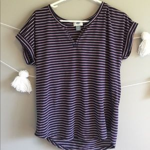 Old Navy striped tee with neck line cut!